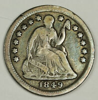 1849-O LIBERTY SEATED HALF DIME.  FINE.  134428