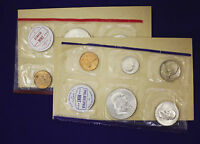 1960 OFFICIAL U.S. MINT SET. COMPLETE AND ORIGINAL. 10 COINS BOTH