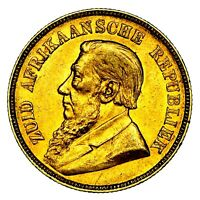 1900 PAUL KRUGER SOUTH AFRICA GOLD POND COIN