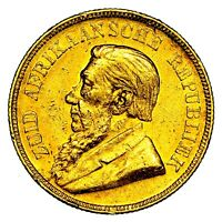 1894 PAUL KRUGER SOUTH AFRICA GOLD POND COIN