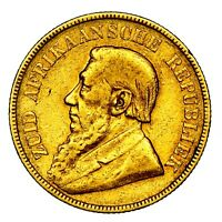 1898 PAUL KRUGER SOUTH AFRICA GOLD POND COIN