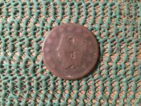 LOT  3539  1827 J F  COUNTER STAMP LARGE CENT  SEE PHOTO FOR CONDITION