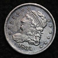 1834 CAPPED BUST HALF DIME CHOICE EXTRA FINE  SHIPS FREE E194 LT
