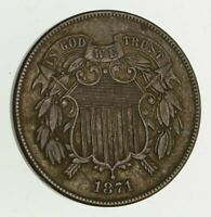 1871 TWO-CENT PIECE - CIRCULATED 9407
