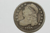 GRADES GOOD 1833 P CAPPED BUST 90 SILVER DIME BST10-240