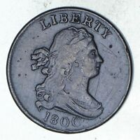 1800 DRAPED BUST HALF CENT - CIRCULATED 9566