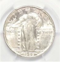 1926-D STANDING LIBERTY QUARTER DOLLAR PCGS MINT STATE 64  25C BRIGHT WHITE LUSTER