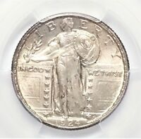 1924-D STANDING LIBERTY QUARTER PCGS MINT STATE 64 25C GREAT EYE APPEAL