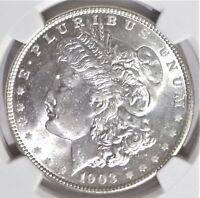 1903-O $1 NGC MINT STATE 63 BRIGHT WHITE BETTER DATE LOW MINTAGE  MORGAN SILVER DOLLAR