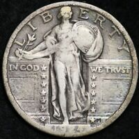 1924 STANDING LIBERTY QUARTER CHOICE VF SHIPS FREE E275 ANH