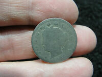1896 US V NICKEL COIN 5 CENTS WORN LIBERTY