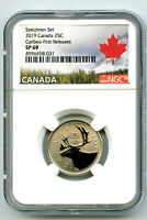 2019 CANADA 25 CENT NGC SP69 FIRST RELEASES FROSTED CARIBOU