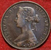 1861 NEW BRUNSWICK CANADA ONE CENT FOREIGN COIN