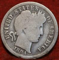 1894 O NEW ORLEANS MINT SILVER BARBER DIME
