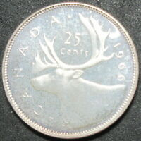 1966 CANADA PROOF LIKE SILVER TWENTY FIVE CENT COIN