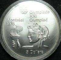 1974 CANADA ATHLETE WITH TORCH OLYMPIC .7226 OUNCE SILVER FI