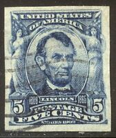 U.S. 315 USED  ?    1903 5C LINCOLN IMPERF