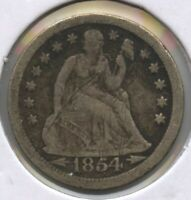 1854-O SEATED LIBERTY DIME - NEW ORLEANS MINT BC555