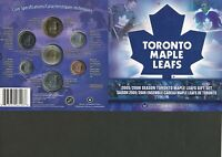 2006 TORONTO MAPLE LEAFS 7 COIN GIFT SET. COLORIZED QUARTER 25 CENTS. NHL RCM