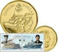1910 2010 CANADIAN NAVY COIN AND STAMP SET. RCM CANADA MINT SEALED PACKAGING.