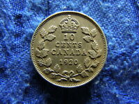 CANADA 10 CENTS 1920 KM23A
