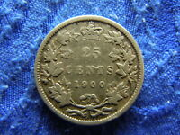 CANADA 25 CENTS 1900 KM5