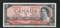 1954 $2 BANK OF CANADA   HIGH GRADE BANKNOTE GREAT CENTERING AND MARGINS.