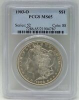 1903-O MORGAN SILVER DOLLAR PCGS MINT STATE 65 CERTIFIED - NEW ORLEANS MINT - BA919