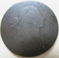 1800 U.S. DRAPED BUST LARGE CENT COIN. C385