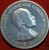 UNCIRCULATED 1958 GHANA 10 SHILLING SILVER FOREIGN COIN