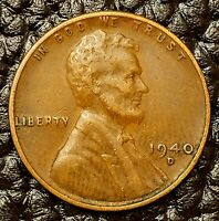 1940-D LINCOLN WHEAT CENT IN FINE F / FN CONDITION  $20 ORDERS SHIP FREE