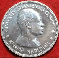UNCIRCULATED PROOF 1958 GHANA 10 SHILLINGS FOREIGN COIN