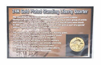 FIRST COMMEMORATIVE MINT 24K GOLD PLATED STANDING LIBERTY QUARTER 1916 TO 1930