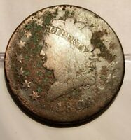 1808 LARGE CENT - CLASSIC HEAD /FIRST YEAR OF PRODUCTION - SOME PITTING