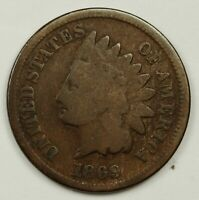 1869 INDIAN HEAD CENT.  STRONG GOOD.  138433