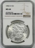 1902-O $1 NGC MINT STATE 64 MORGAN SILVER DOLLAR