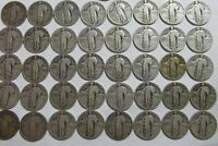 ROLL OF 40 $10 FACE 90  SILVER STANDING LIBERTY QUARTERS DATED BULK 1925 30