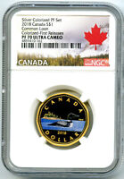 2018 CANADA SILVER PROOF LOONIE DOLLAR NGC PF70 GILT COLORED