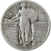 1928 S STANDING LIBERTY QUARTER AG ABOUT GOOD 90  SILVER 25C US TYPE COIN