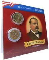 2012 P&D $1 GROVER CLEVELAND 1ST TERM PRESIDENTIAL 2 COIN SET UNCIRCULATED
