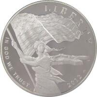 STAR SPANGLED BANNER COMMEMORATIVE 2012 P 90  SILVER DOLLAR PROOF $1 COIN
