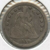 1857-O SEATED LIBERTY DIME - NEW ORLEANS MINT BD153