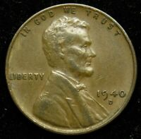 1940 D LINCOLN WHEAT CENT PENNY VF  FINE B01