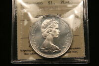 1966 CANADA SILVER DOLLAR ICCS CERTIFIED GEM PL 65. LARGE BEADS.