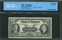 1935 $10 BANK OF MONTREAL. EF 40 CCCS. CH 505 60 04. DODDS GORDON.