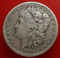 100 YEARS OLD CLASSIC COIN1885 S MORGAN SILVER DOLLAR VF 131