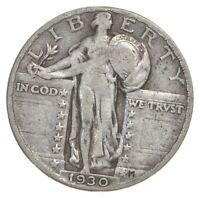 25C   1930 STANDING LIBERTY QUARTER   90  SILVER  537