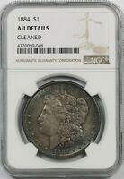 1884 $1 NGC AU DETAILS CLEANED MORGAN SILVER DOLLAR