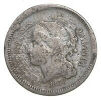 1867 NICKEL THREE CENT PIECE   CHARLES COIN COLLECTION  749