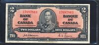 1937 $2 BANK OF CANADA OSBORNE TOWERS  TYPE. VF  BC 22A.